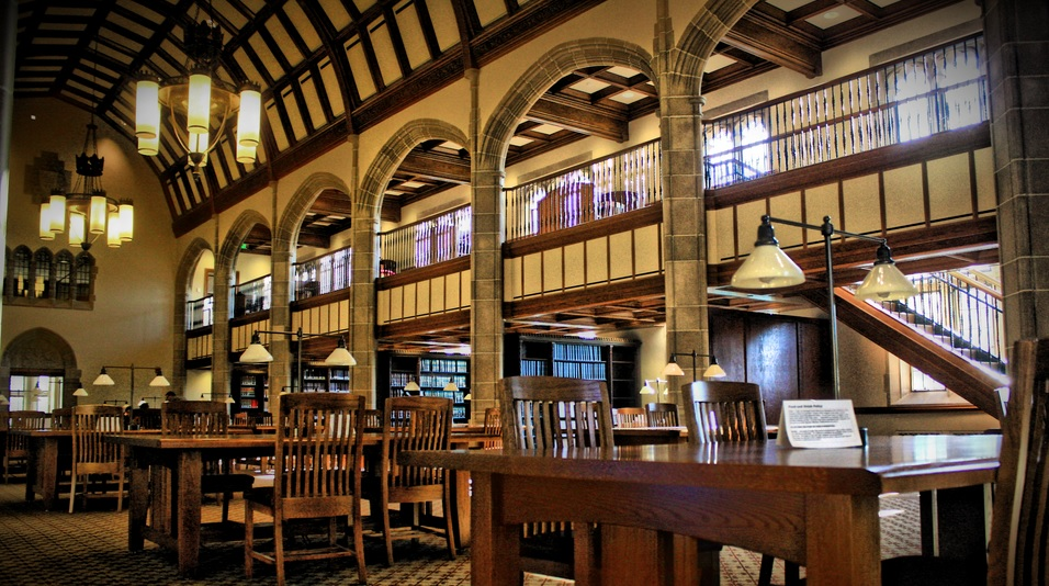 If you are pondering on how to get into law school, follow the steps below and soon you'll be studying in a library like this one at Notre Dame!
