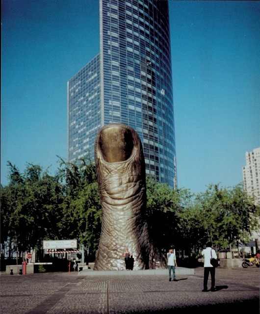 The Big Thumb statue is certainly one of the quirky things to do in Paris...