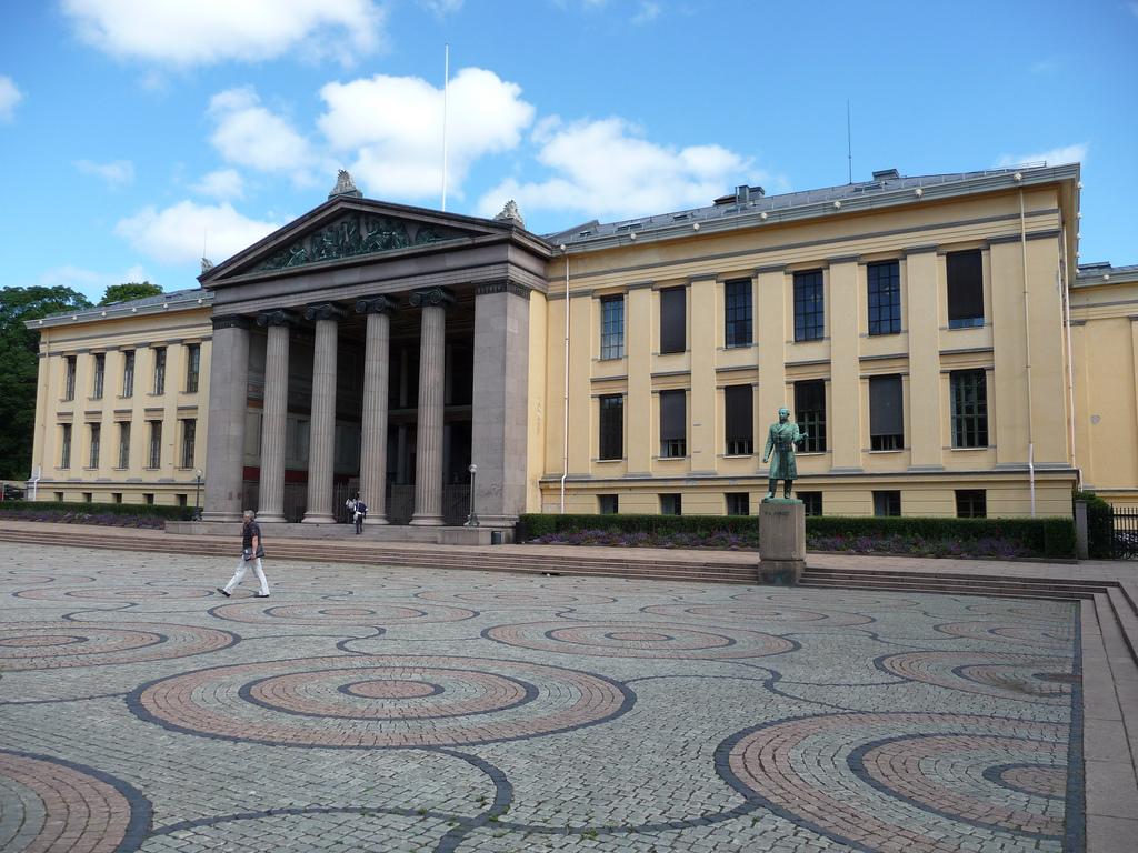 Does this place look like somewhere where you could get free college tuition? Well ... it is, as this is Oslo University in Norway!