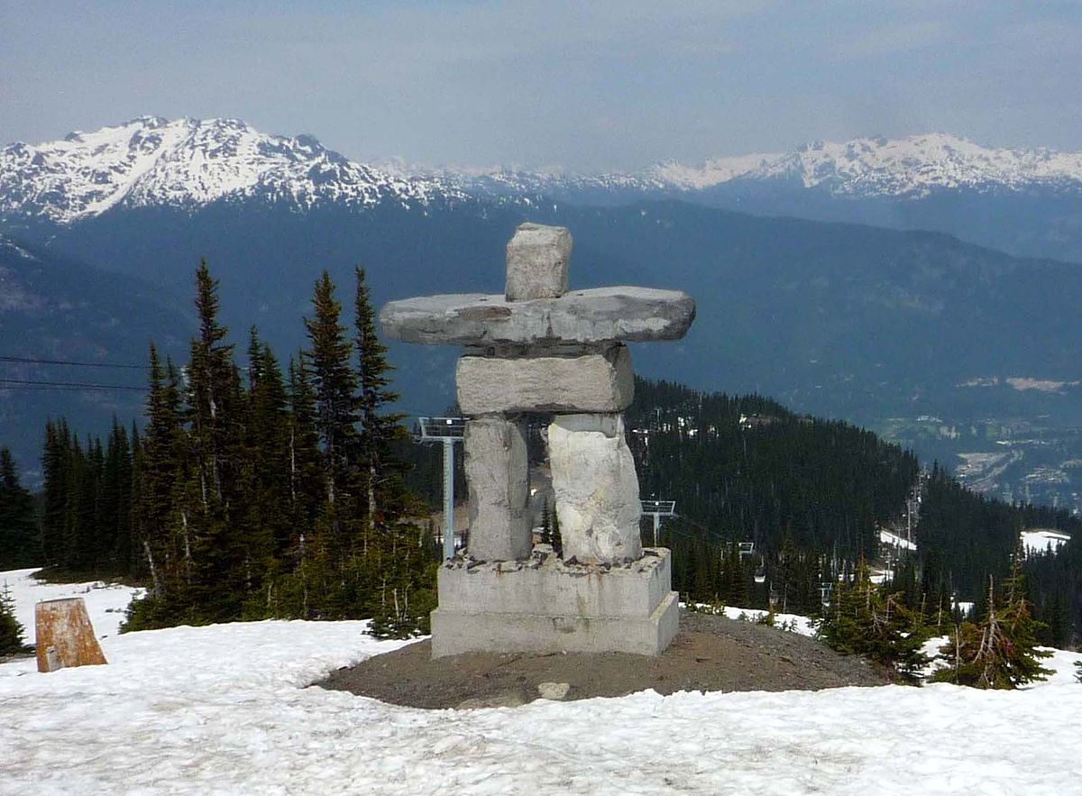 An Inukshuk hints at the artistic talent that lies within the museums of Whistler ... photo by CC user Bobak Ha'Eri on wikimedia