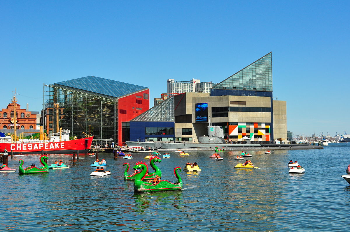 Baltimore Maryland is home to the National Aquarium ... photo by CC user AndrewHorne on wikimedia